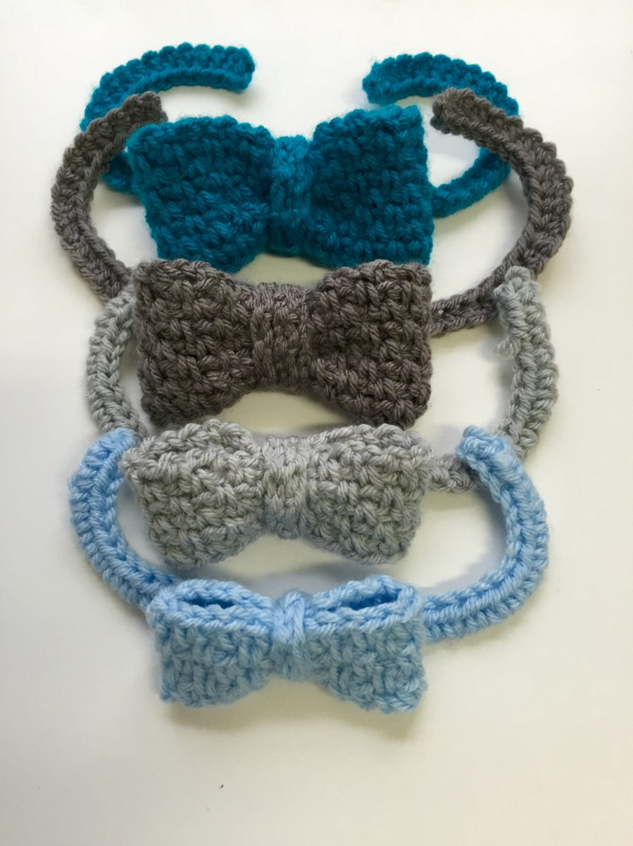 bow tie woven stitch crochet pattern by little monkeys designs