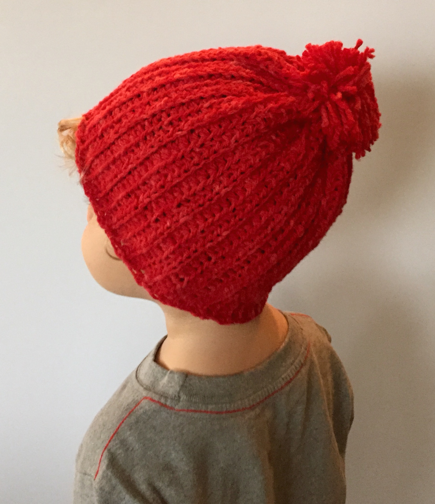 e0fe6b9a0fe Crochet Pattern - Cade s Ribbed Hat with Pom Pom for Toddler