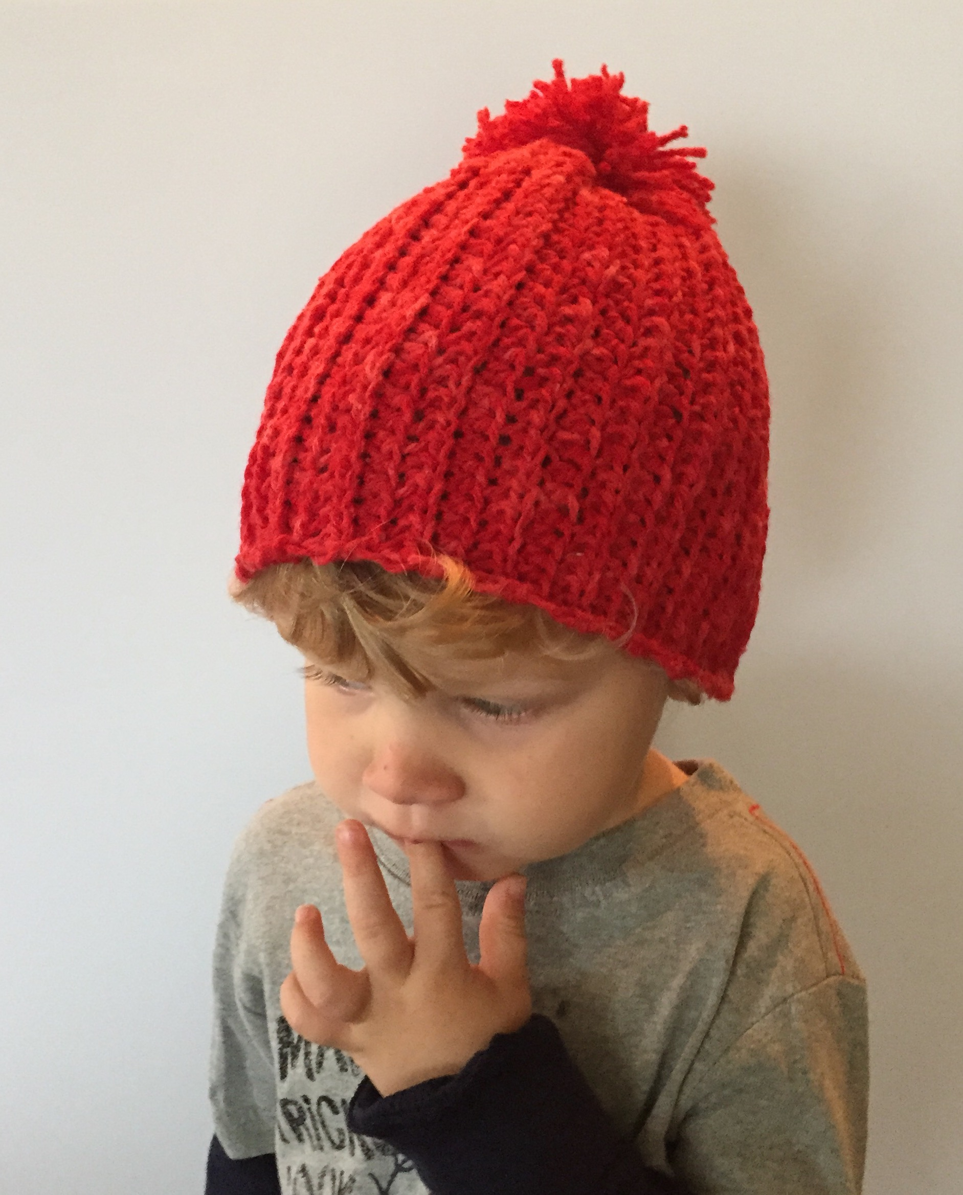 Crochet Pattern Cade S Ribbed Hat With Pom Pom For