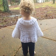 back view of easter shawl for girls
