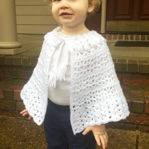 Easter Shawl crochet pattern for girls by Little Monkeys Designs