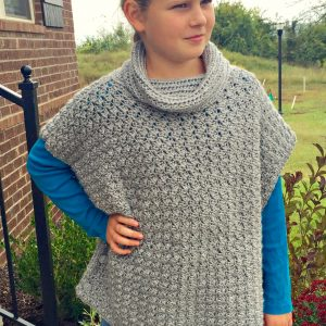 Fiona Poncho crochet pattern by Little Monkeys Designs