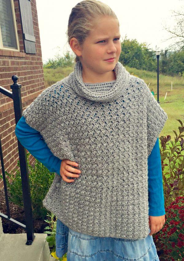 Fiona Poncho crochet pattern by Little Monkeys Designs