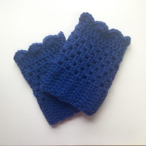 Grace boot cuffs crochet pattern by Little Monkeys Designs