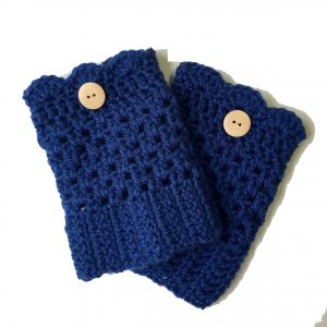 Grace boot cuffs crochet pattern by Little Monkeys Designs