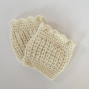 boot cuffs in cream wool by little monkeys designs