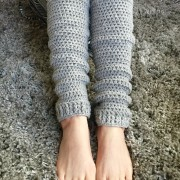 on your toes leg warmers in grey wool