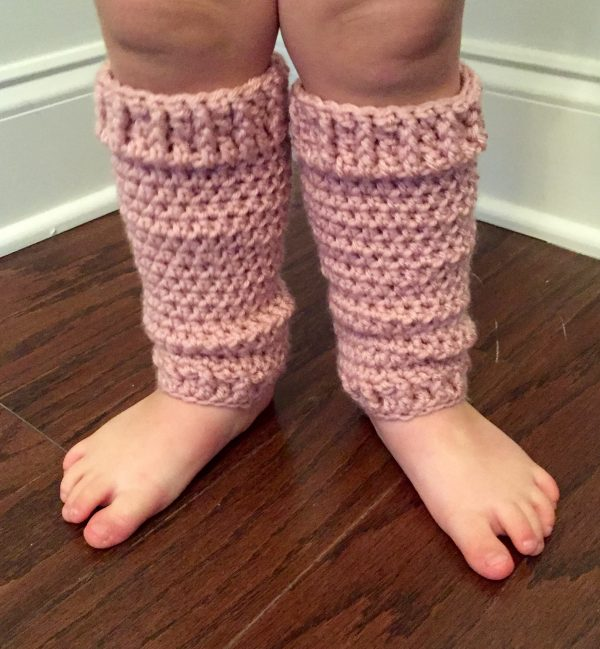 On Your Toes Leg Warmers crochet pattern for babies, toddlers and children by Little Monkeys Designs