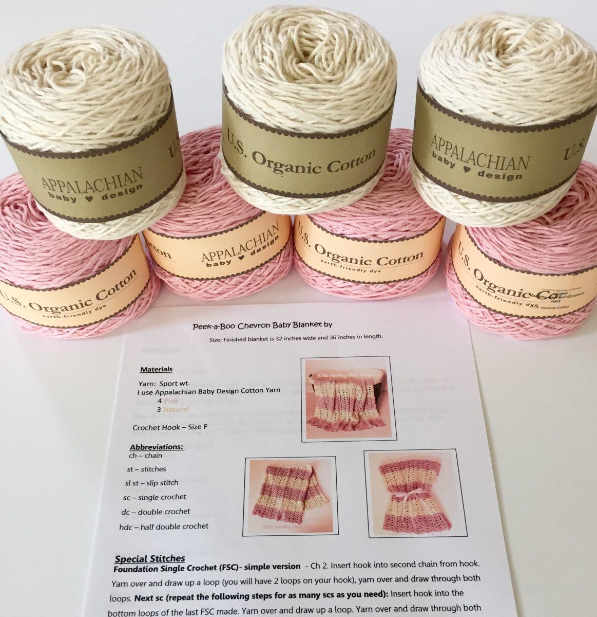 Peek a boo Baby Blanket crochet pattern by little monkeys designs diy kit
