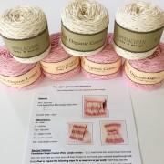 baby blanket crochet kit crochet pattern and yarn kit baby blanket pink and cream little monkeys designs