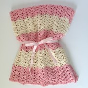 organic cotton baby blanket yarn crochet pattern baby blankett little monkeys designs peek a boo pink cream