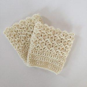 Queen's Lace Boot Cuffs crochet pattern by Little Monkeys Designs