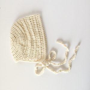organic cotton vintage baby bonnet
