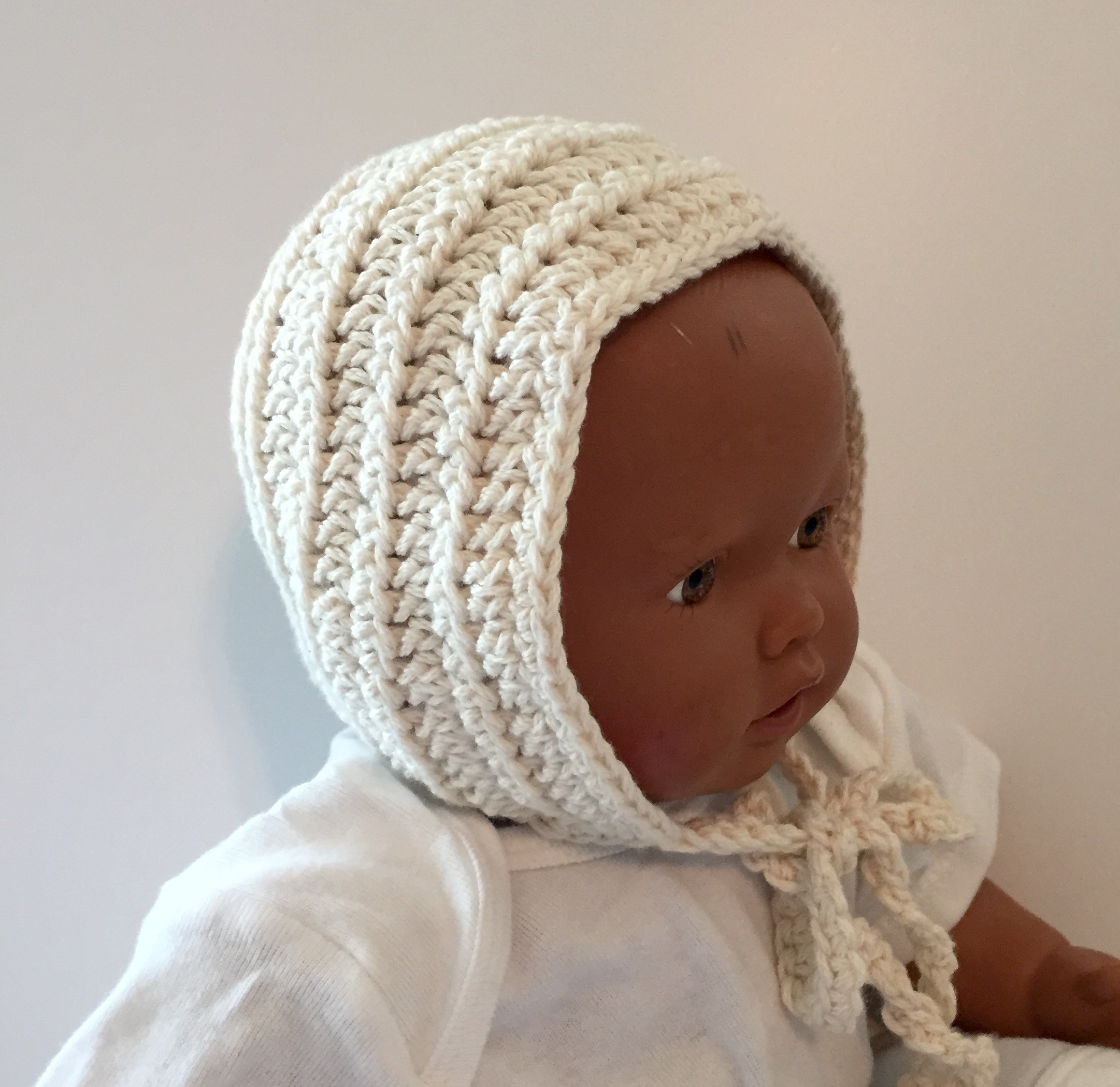Ribbed Vintage Baby Bonnet Crochet Pattern By Little