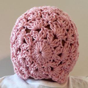 Princess Charlotte Baby Bonnet crochet pattern by Little Monkeys Designs