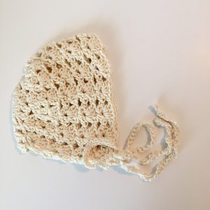 organic cotton yarn crochet pattern baby bonnet princess charlotte little monkeys designs