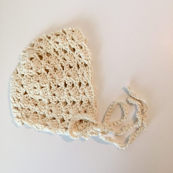organic cotton yarn crochet pattern baby bonnet princess charlotte little monkeys designs