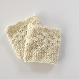 wool boot cuffs in cream by little monkeys designs