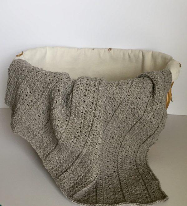 Playful Stripes baby blanket crochet pattern by Little Monkeys Designs