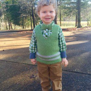 Sweet Pea Vest crochet pattern by Little Monkeys Designs
