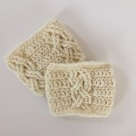 little monkeys designs boot cuffs in cables