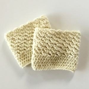 Boot cuffs for women in cream merino wool by little monkeys designs