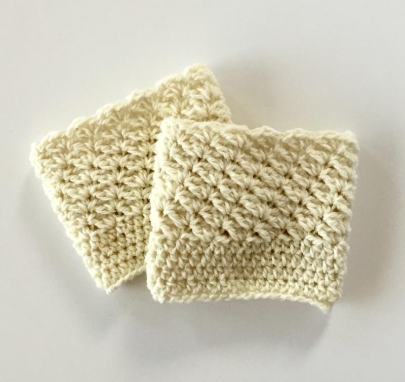 Boot cuffs for women in cream merino wool by little monkeys designs