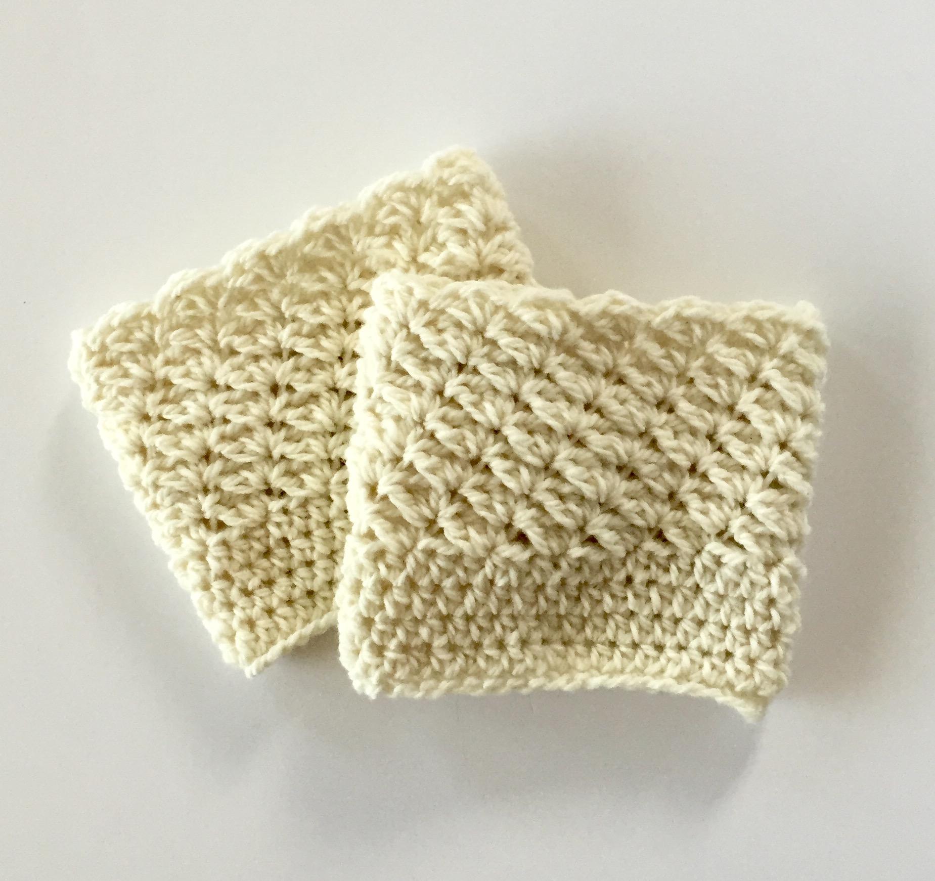 Bella Boot Cuffs in cream wool
