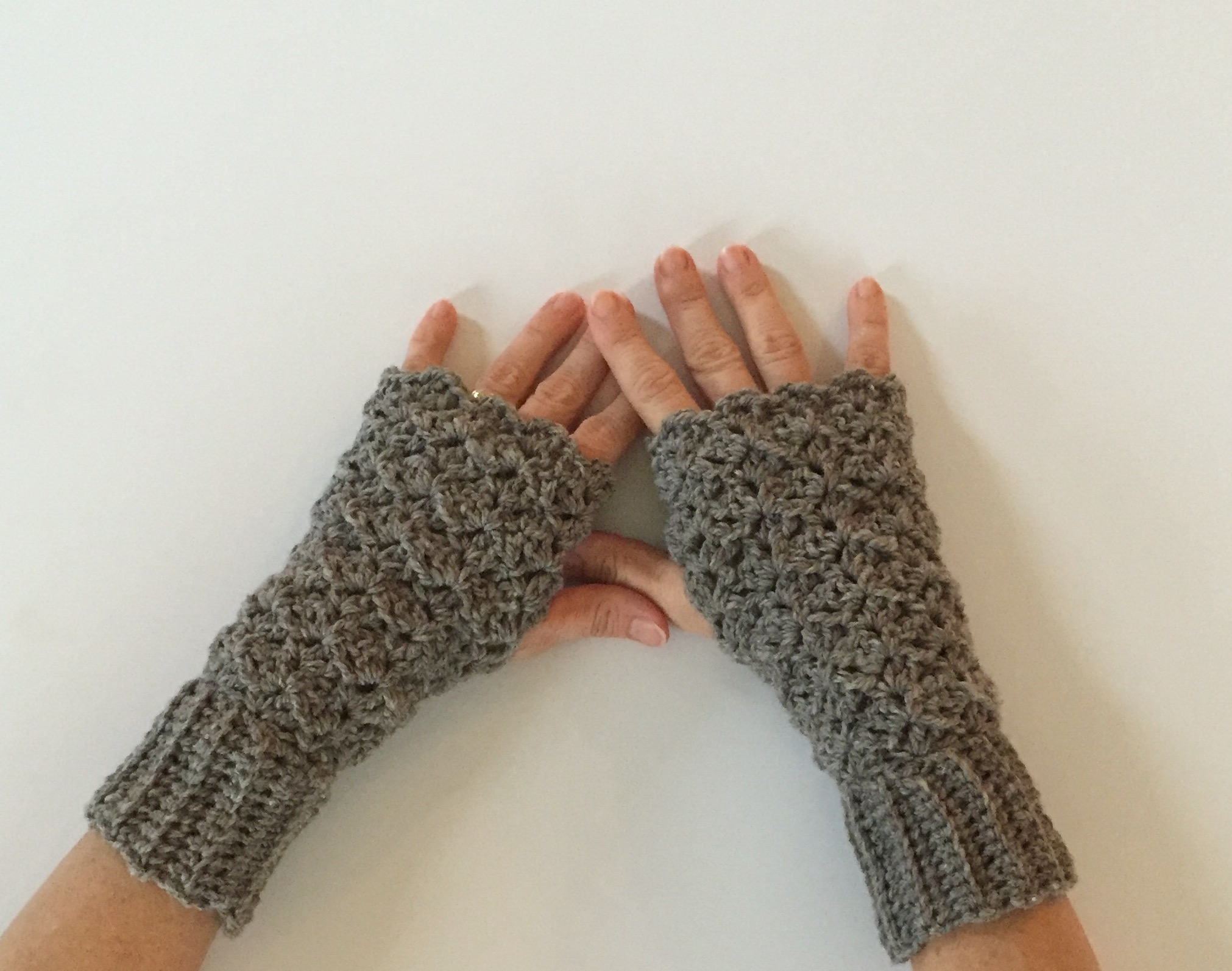 Crochet Pattern - Lacy Fingerless Gloves - Little Monkeys ...