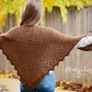 Alpaca Triangle Shawl Crochet pattern by Little Monkeys Designs
