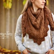 Alpaca Triangle Shawl Crochet pattern by Little Monkeys Designs - crochet pattern triangle scarf