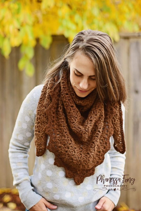 Alpaca Triangle Shawl Crochet pattern by Little Monkeys Designs - trangle scarf crochet pattern