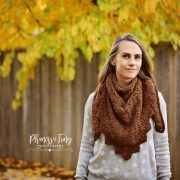 Alpaca Triangle Shawl Crochet pattern by Little Monkeys Designs - triangle scarf pattern in alpaca