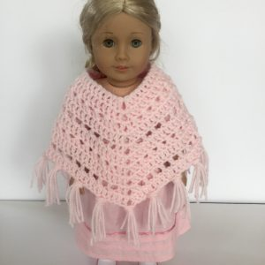 Boho Crosses Poncho crochet pattern for American Girl Doll by Little Monkeys Designs