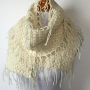 merino wool boho fringe scarf