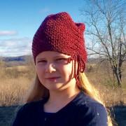 Crochet pattern cinched hat 1920s
