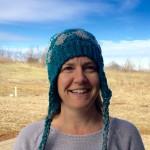 crochet pattern hat with ear flaps in merino wool