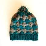 dori's diamond hat crochet pattern in merino worsted yarn