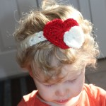 crochet pattern heart headband