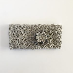 merino wool ear warmer in grey by little monkey's designs