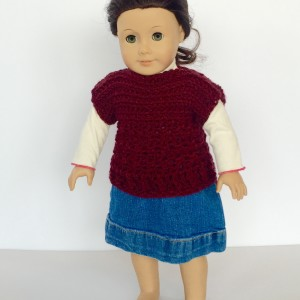 crochet pattern doll pullover