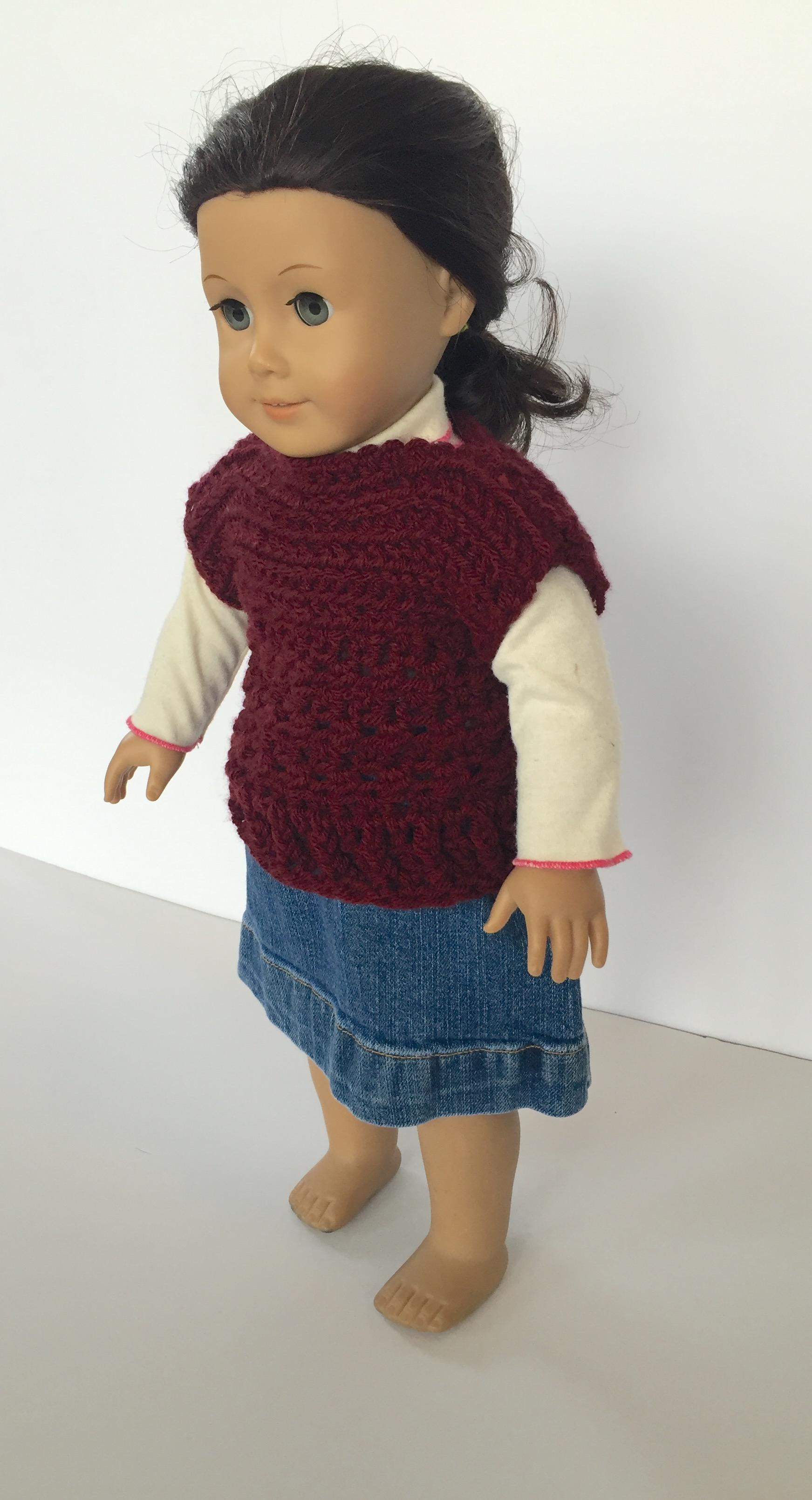 Crochet Pattern Pullover For Dolls Little Monkeys Designs