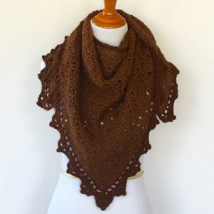 Triangle Shawl as a scarf
