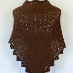 crochet pattern triangle shawl back view
