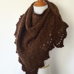 crochet pattern triangle shawl scarf