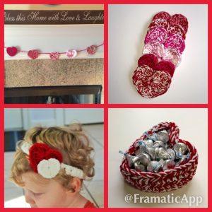 crochet pattern heart valentine projects