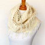 boho fringed scarf merino wool