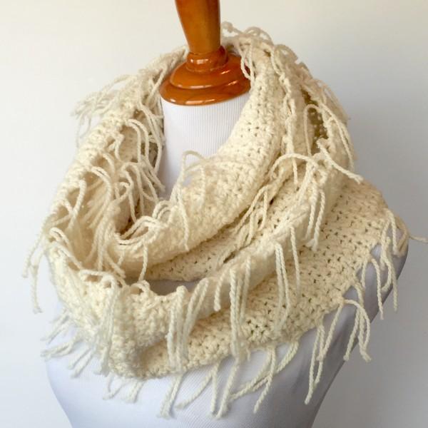 Boho Fringed Scarf Crochet Pattern By Little Monkey S Designs