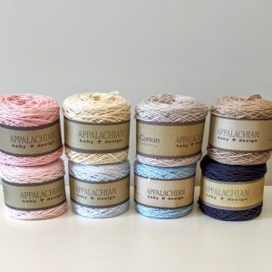 Appalachian Baby Design organic cotton yarn - 8 yarn colors - by Little Monkeys Designs
