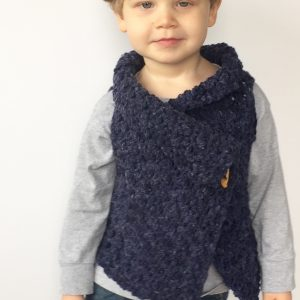 Chunky Vest crochet pattern child - adult sizes